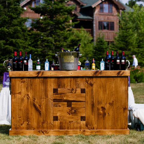 6' Rustic Wood Bar Rental in Rochester, NY