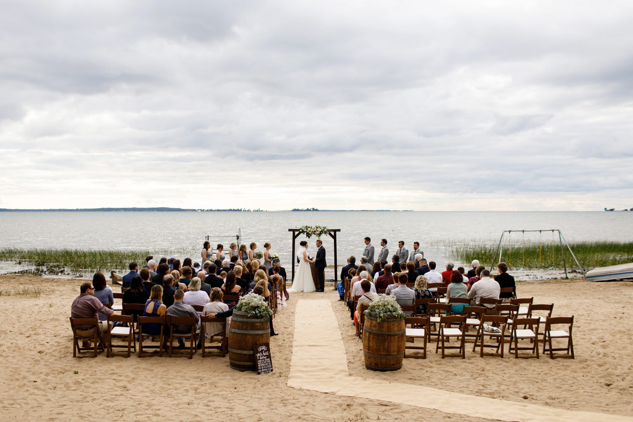 Rustic beach wedding mccarthy tents events party and for Beach weddings in ny