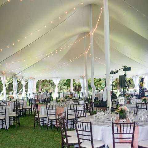 Tent Side Pole Drapes Rental in Rochester, NY