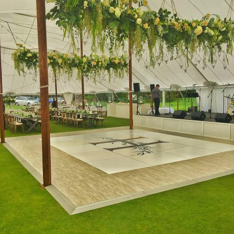 4' x 4' White Driftwood Dance Floor Section Rental in Rochester, NY