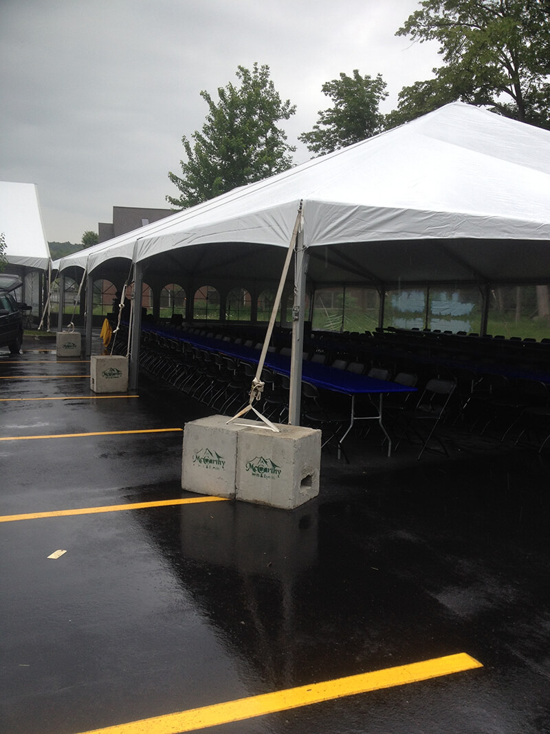 Industry research proved that using concrete weights is the only proper way to anchor a frame tent to the ground. But the use of concrete weights is ... & Safety - McCarthy Tents u0026 Events | Party and Tent Rentals ...