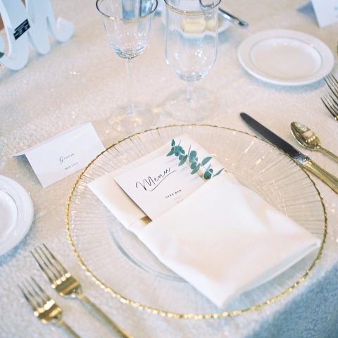 Fiori Gold Flatware Rental in Rochester, NY