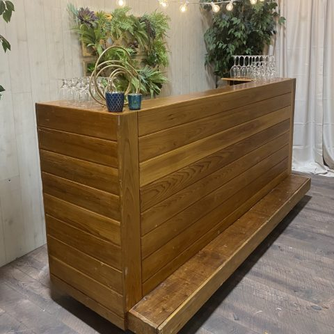 8′ Cedar Bar Rental in Rochester, NY