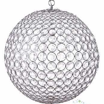 Hanging Crystal Spheres, 14″/20″ Rental in Rochester, NY