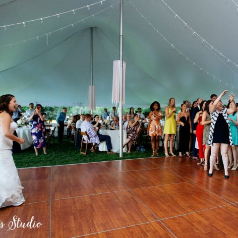 4' x 4' Cherry Wood Dance Floor Section Rental in Rochester, NY