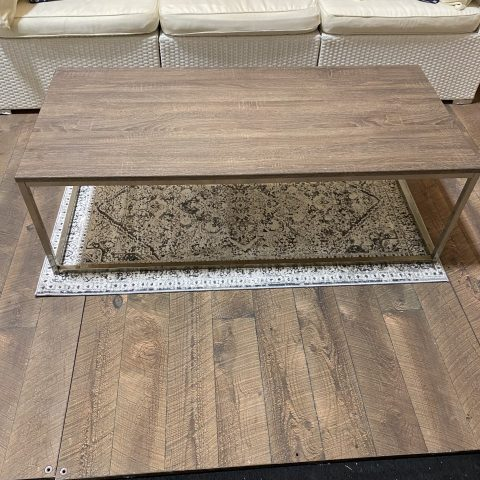 Modern Greige Coffee Table Rental in Rochester, NY