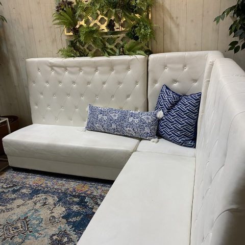 White High-Back Lounge Furniture Rental in Rochester, NY