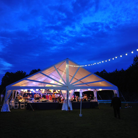 40 x 100 Wind-Rated Jumbotrac Frame Tent Rental in Rochester, NY