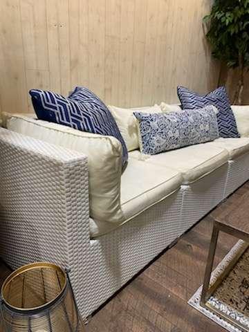 White Wicker Furniture Rental in Rochester, NY