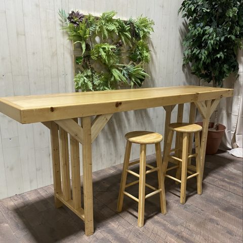 Wooden Bar Table Rental in Rochester, NY