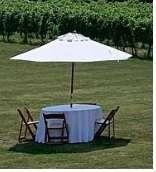 9′ Market Umbrella Table Rental in Rochester, NY