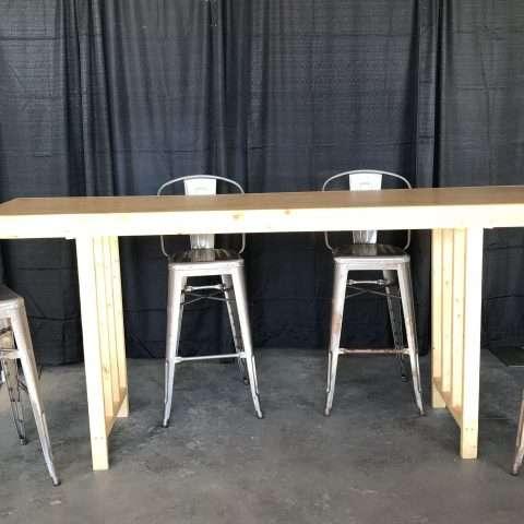 Wooden Bar Table Rental Rochester Ny Buffalo Ny